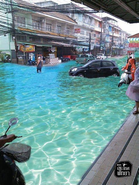 kecoh air banjir pattaya sejernih kolam renang mynewshub