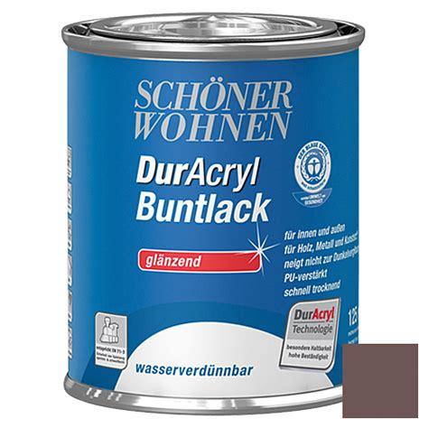 Glanzend Dekorieren Mit Tapete Sch 246 Ner Wohnen Duracryl Buntlack Schokobraun 125 Ml