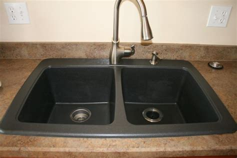 homeofficedecoration black granite composite sink