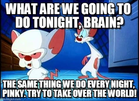 Pinky Meme - what are we going to do tonight brain on memegen