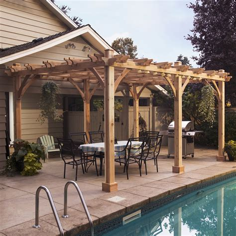 images of a pergola outdoor living today bz1220 12 ft x 20 ft cedar breeze pergola lowe s canada
