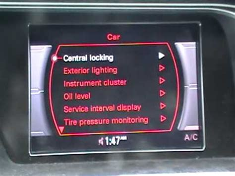 audi a4 light malfunction how to reset the tpms tire pressure monitoring system on