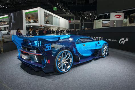 The bugatti vision gran turismo concept car has been showcased in a new video. Bugatti Vision Gran Turismo - World Premiere. Editorial Stock Image - Image of motor, automobile ...