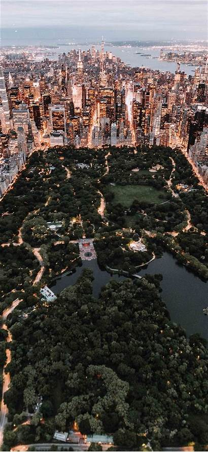 Central Park York Above Iphone Wallpapers