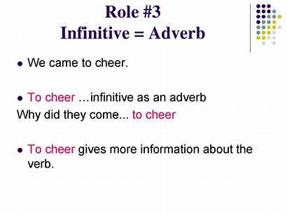 Infinitive Phrase Adverb English