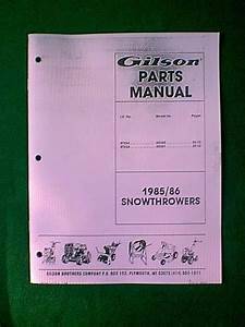 Gilson Models St524 55350 55351 Snowthrower Part Manual