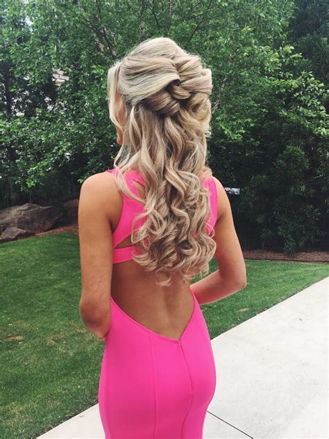 half up half down #hairstyles #promhair Prom