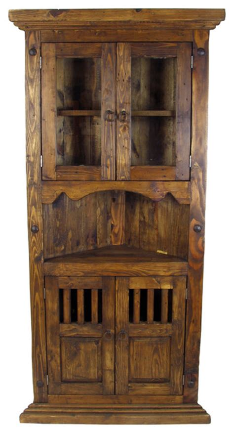 rustic storage cabinet with doors rustic wood corner cabinet with glass doors rustic
