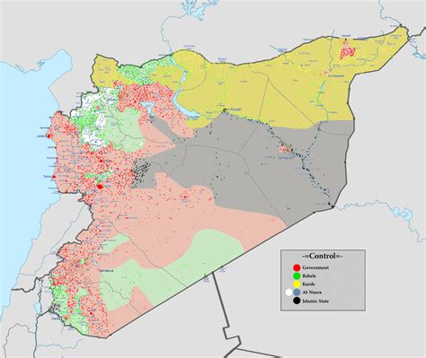 Syrien Karte Bürgerkrieg
