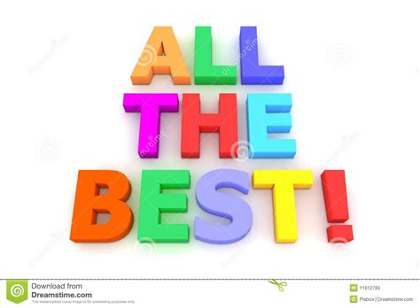 Colourful All The Best! Royalty Free Stock Photo  Image 11612765