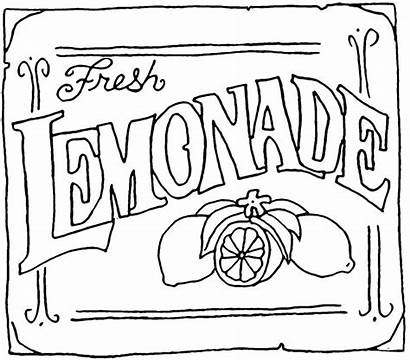 Lemonade Stand Coloring Pages Sign Clipart Printable