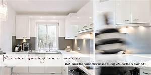 Weiße Arbeitsplatte Küche : kuechenmodernisierung fronten hochglanz weiss quarzitarbeitsplatte ~ Sanjose-hotels-ca.com Haus und Dekorationen