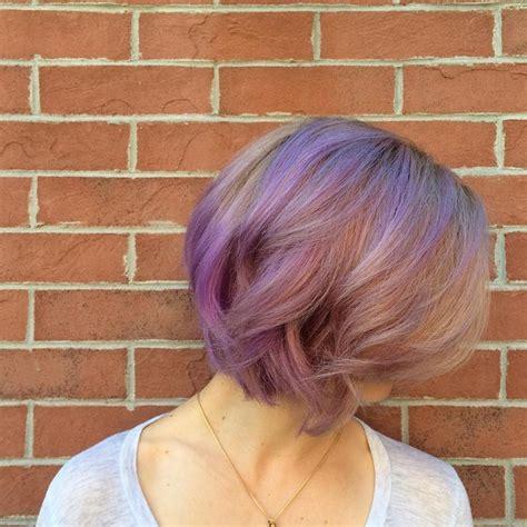 gorgeous pastel purple hairstyles  short long