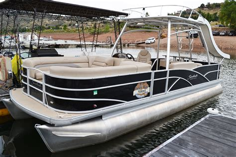 Pontoon Boats With Slides by Boat Rentals Inlet Bay Marina