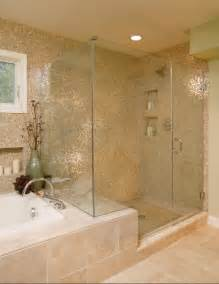 Bathroom Glass Shower Ideas Large Tiled Bathroom Glass Shower Large Accessibility Home Improvements