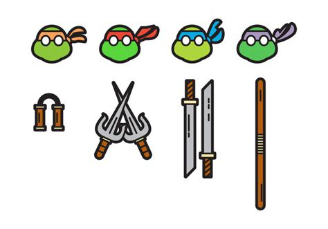 ninja turtle weapons clipart clipground