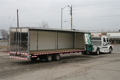 rolling soft cover canopy flat deck recreational trailers