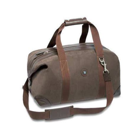 mercedes benz official leather classic weekend bag brown