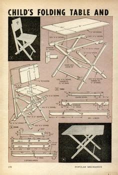 child folding table  chair plans popular mechanics