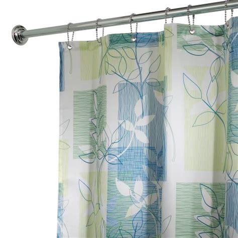 interdesign vivo fabric shower curtain blue green ebay