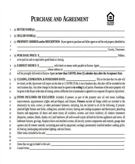 business purchase agreement forms   ms word