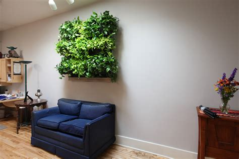 indoor living wall installed   michigan residence