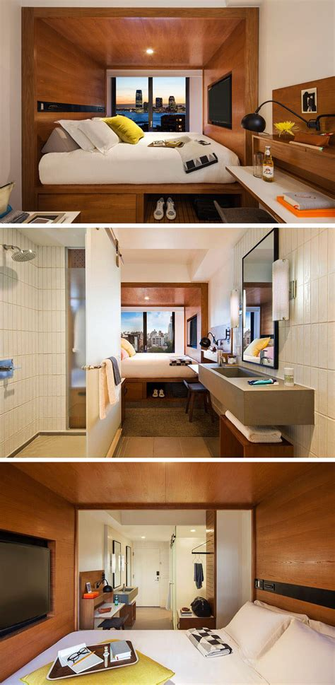Long Living Room Layout by 8 Small Hotel Rooms That Maximize Their Tiny Space