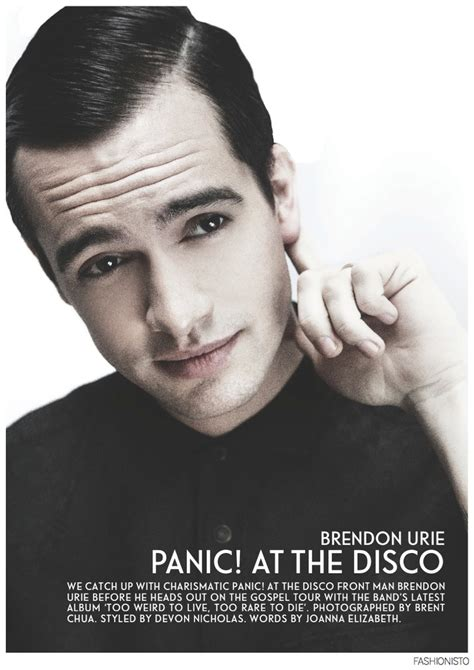 Brendon Urie Of Panic At The Disco For Fashionisto