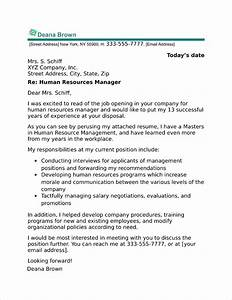 cover letter addressed to human resources - human resources manager cover letter sample