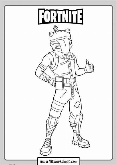 Fortnite Coloring Skins Funny Sheet Abcworksheet Worksheet