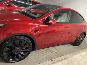 Check out the first red Tesla Model Y's with white interiors delivered over the weekend [Video ...