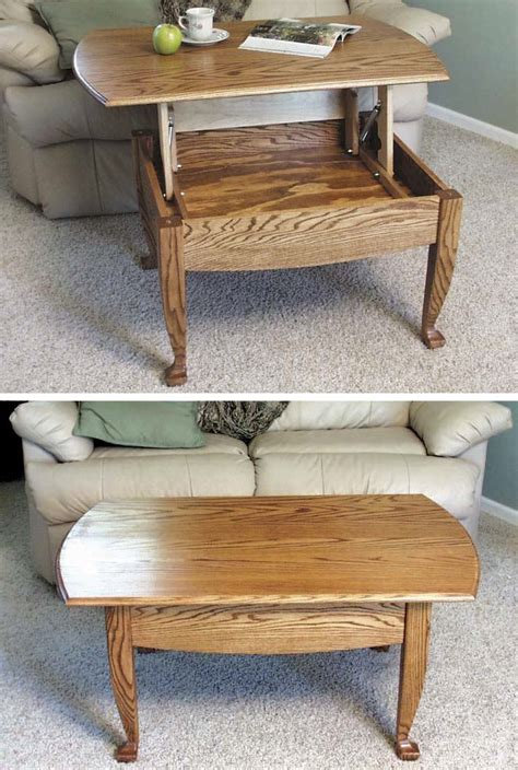 lift  top coffee table woodworking plan