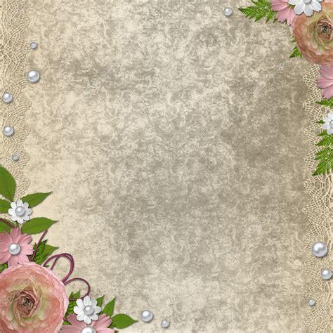 vintage beige background  pink roses pearls  lace