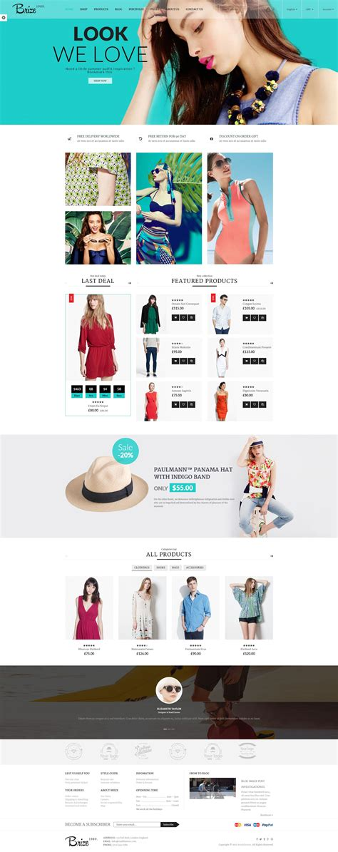 brize template brize responsive woocommerce fashion theme by roadthemes
