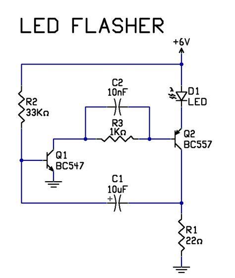 Very Simple Transistor Led Flasher Circuit Tech Stuff