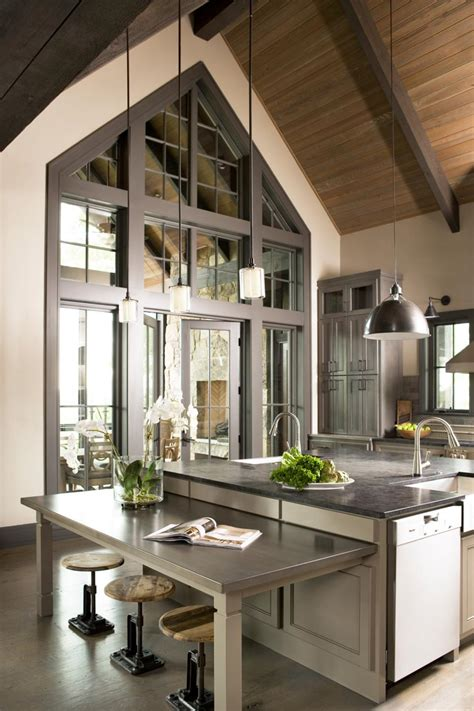 transitional kitchen  cathedral ceiling hgtv