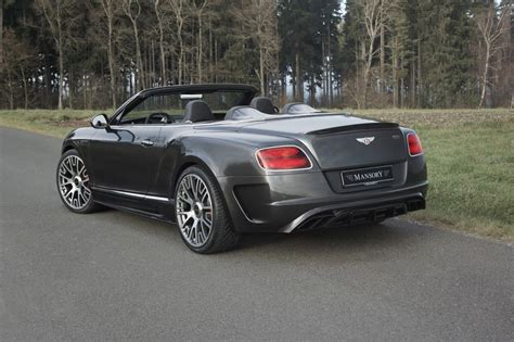 mansory creates  exclusive bentley continental gtc editions