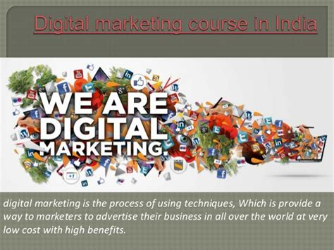 digital marketing certification india digital marketing course in india