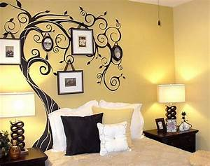 Simple Wall Painting Designs For Bedroom - Home Combo