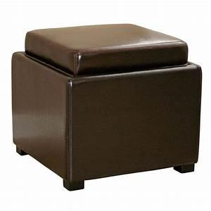 Marc Storage Cube Ottoman In Dark Brown DCG Stores