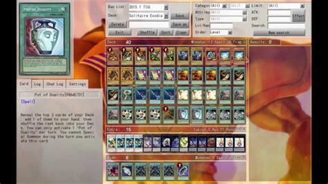 solitaire exodia deck profile tutorial january 2015