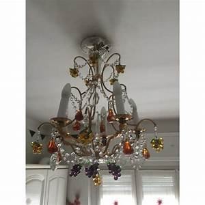 Lustre à Pampilles : lustre pampilles de cristal et fruits color s en verre de murano i ~ Teatrodelosmanantiales.com Idées de Décoration