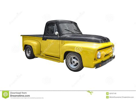 old yellow old yellow pick up vector illustration cartoondealer com