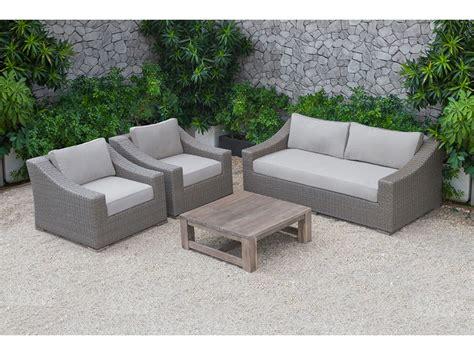 palisades outdoor beige wicker sofa set