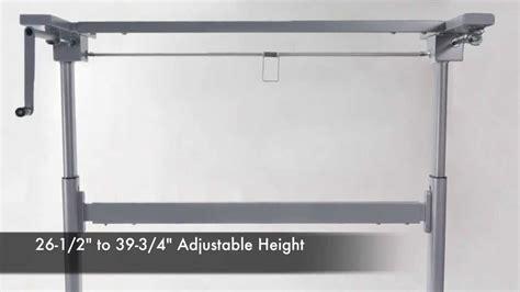 diy crank standing desk adjustable height crank desk frame
