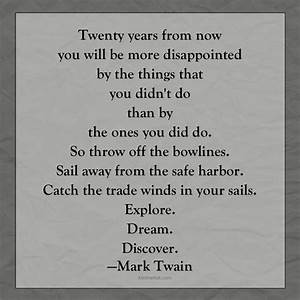 Mark Twain quote: Explore. Dream. Discover. | KristineHall.com
