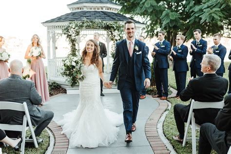 Florida Bride and Groom Just Married Recessional at