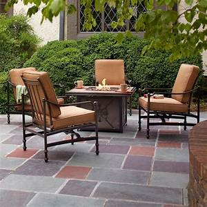 Hampton Bay Niles Park 5-Piece Gas Fire Pit Patio Seating