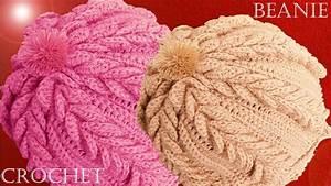 Como tejer a Crochet o Ganchillo gorro boina en punto de ...