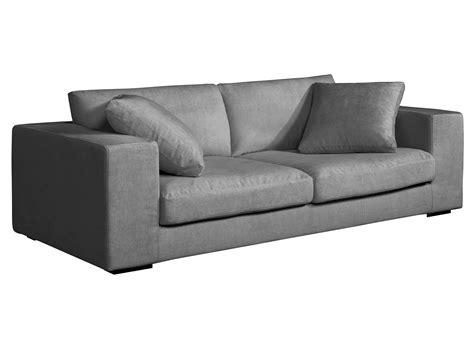 canapé bultex canapé lounge 3 places en tissu confort bultex et plumes